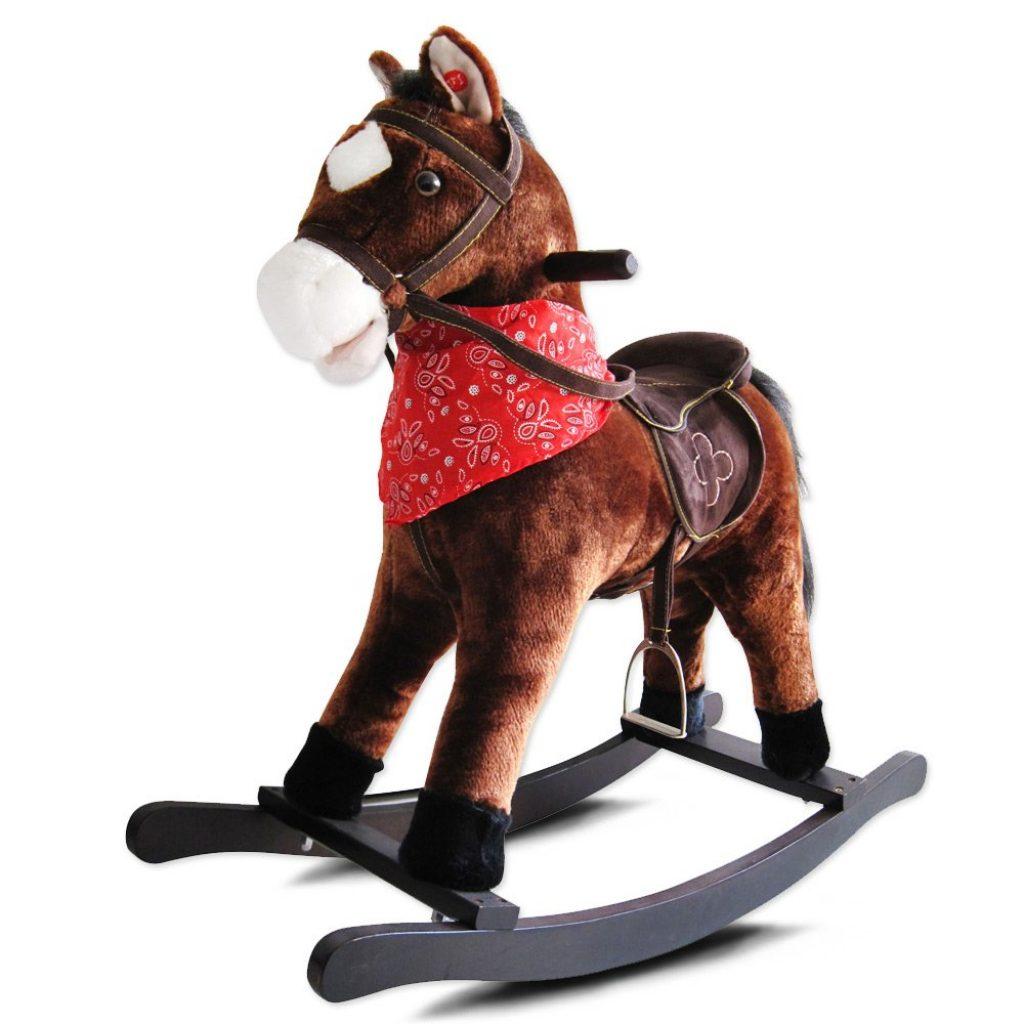 Le cheval à bascule Infantastic émet des sons.