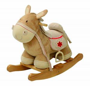 Beau cheval à bascule de la marque Roba qui a de belles couleurs neutres.