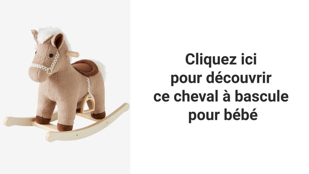 Venez vite découvrir ce beau jouet à bascule qui représente un cheval marron pour bébé !