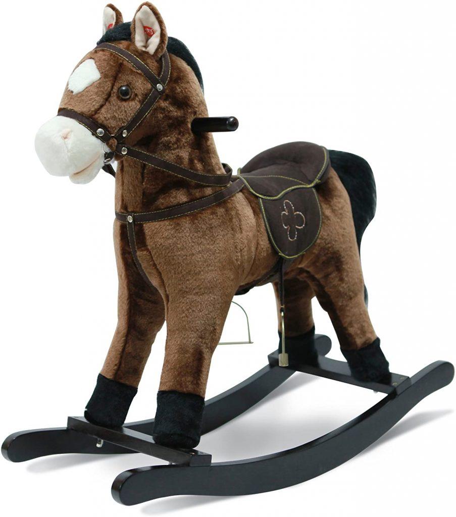 Ce poney à bascule Bayer Chic est sonore.