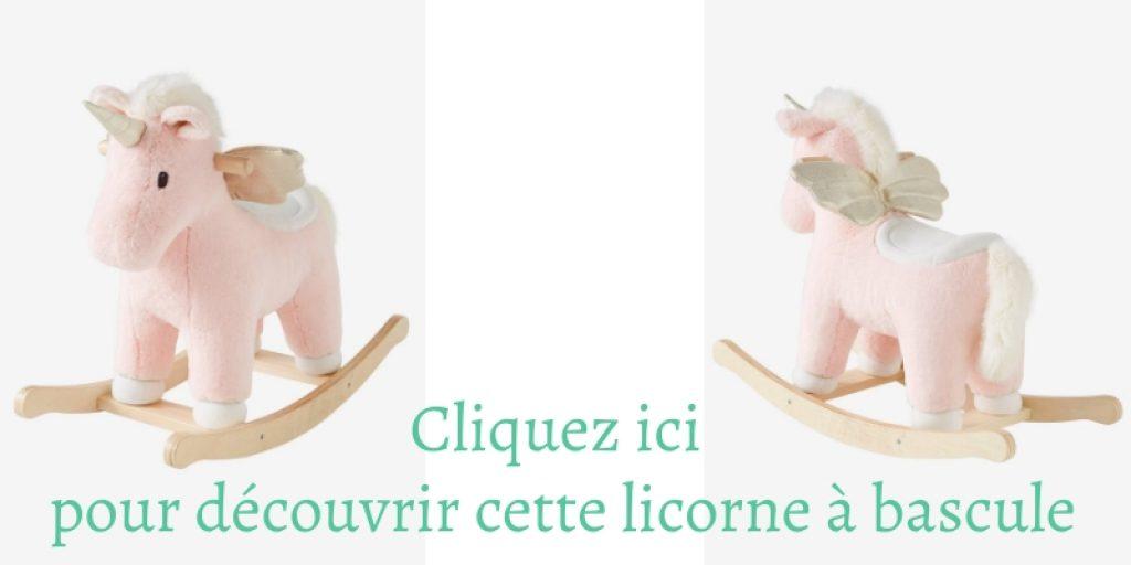 Venez découvrir cette licorne à bascule pour bébé en peluche.