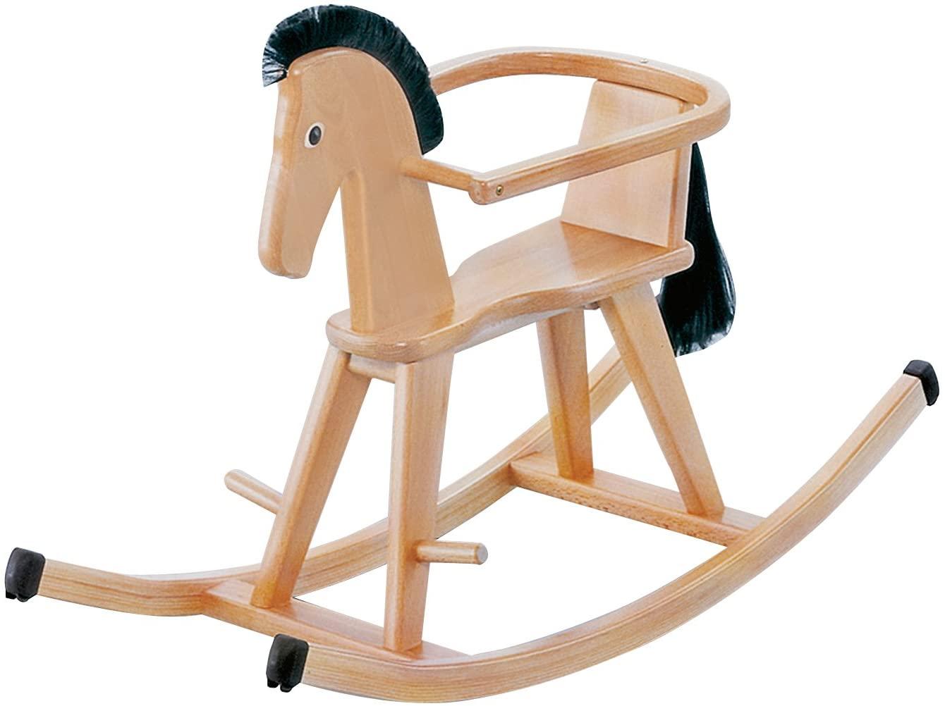 Ce cheval à bascule en bois est conçu par la marque Geuther.