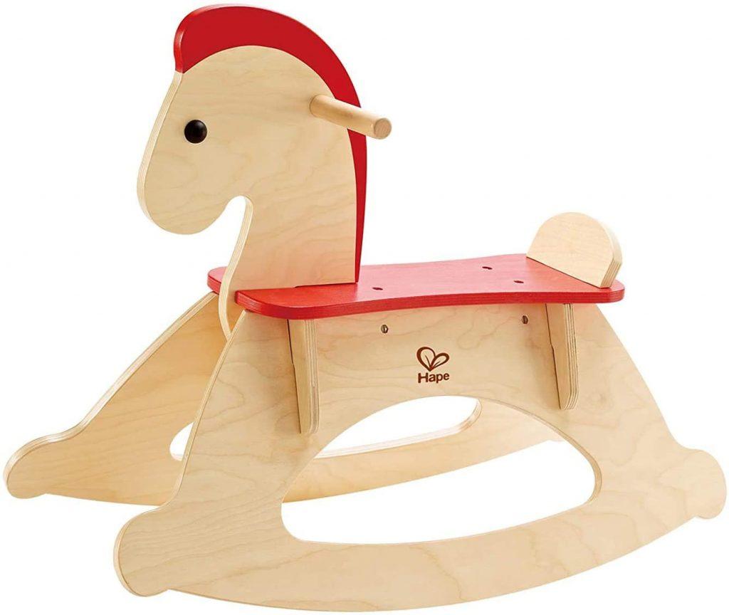 Le cheval à bascule Hape est fait à partir d'un bois FSC.