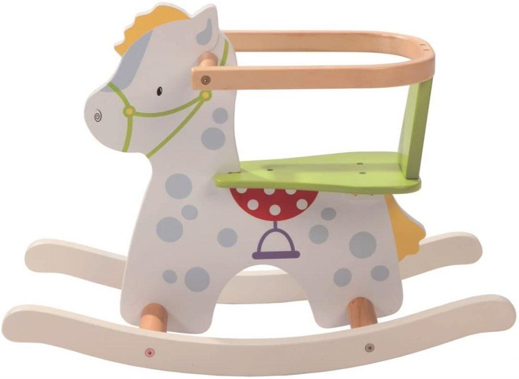 Ce petit cheval en bois Roba a un look super craquant.