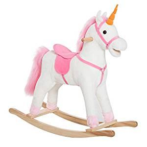 Cette licorne à bascule est un modèle pour les enfants âgées d'au moins 3 ans.
