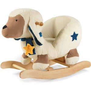 Ce beau mouton à bascule se prénomme Stanley.