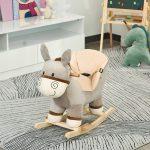 L'âne à bascule HOMCOM a un cadre en bois de peuplier.