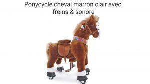 Ponycycle cheval marron clair