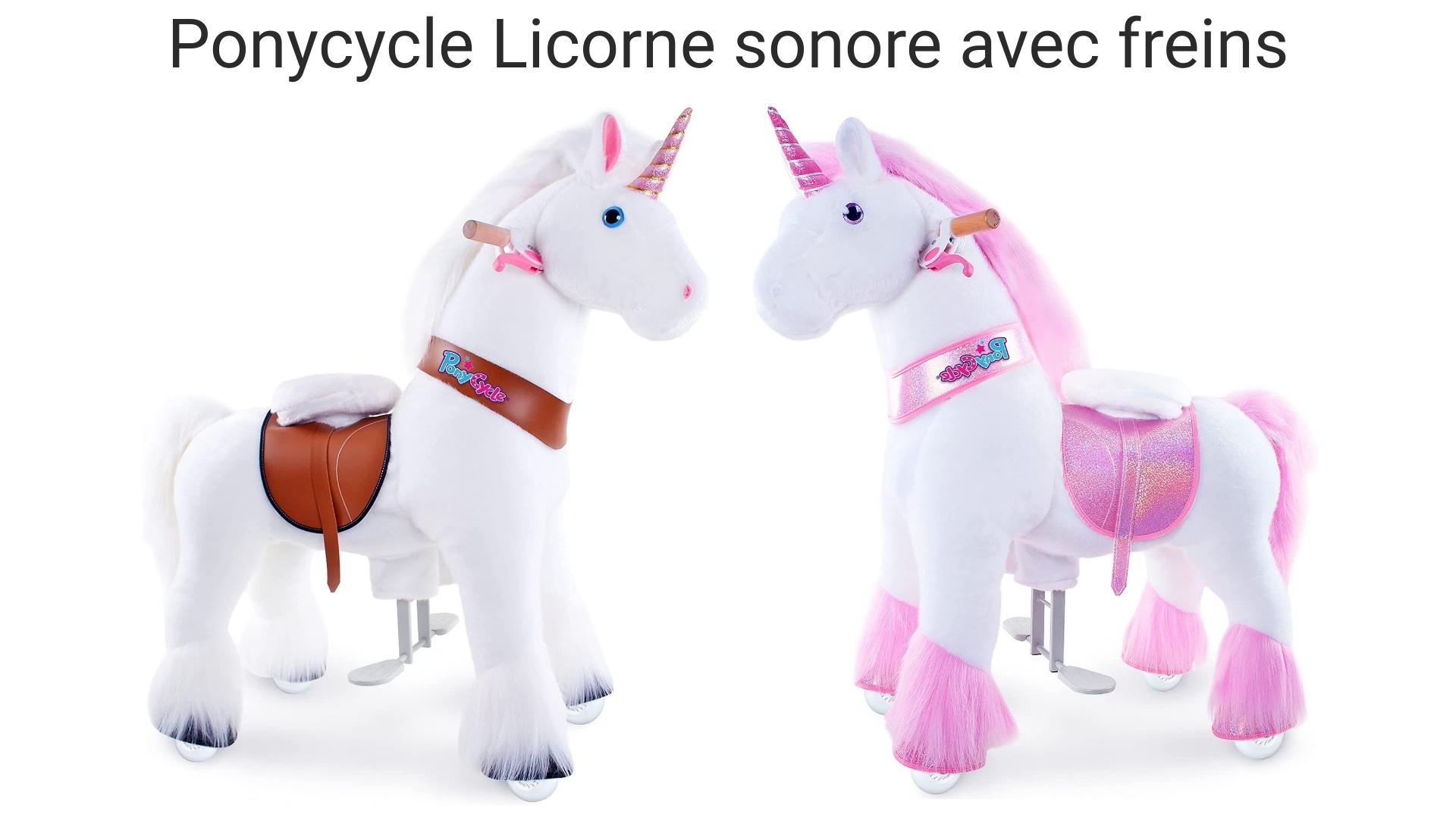 Ces licornes ponycycle ont des freins et font des sons réalistes.