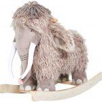 Le mammouth à bascule LABEBE a de longues cornes blanches.