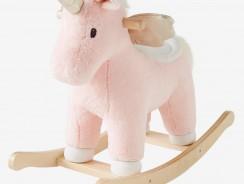 Licorne à bascule rose