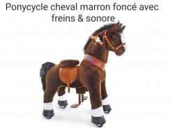 Cheval ponycycle marron foncé