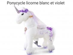 Ponycycle Licorne blanc et violet